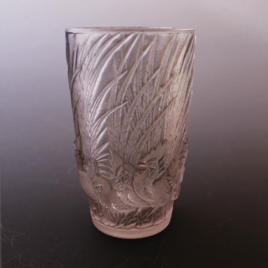 花瓶「鶏と羽根」