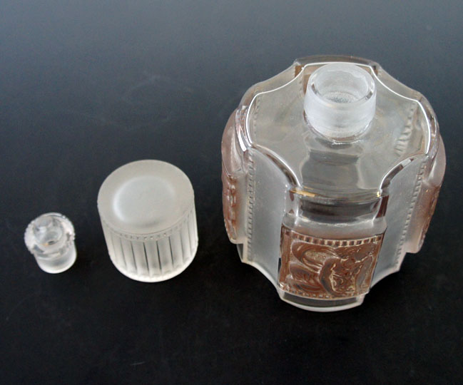 蓋物「エレーヌ トワレ瓶・蓋物3点セット」
