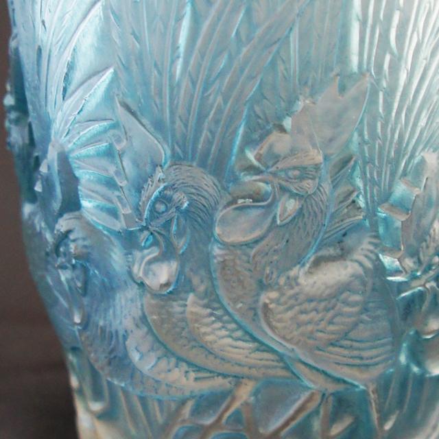花瓶「鶏と羽」