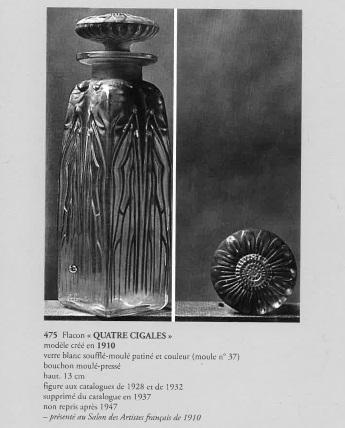 香水瓶「4匹のセミ」